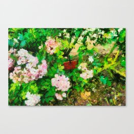 Garden in Blois Canvas Print