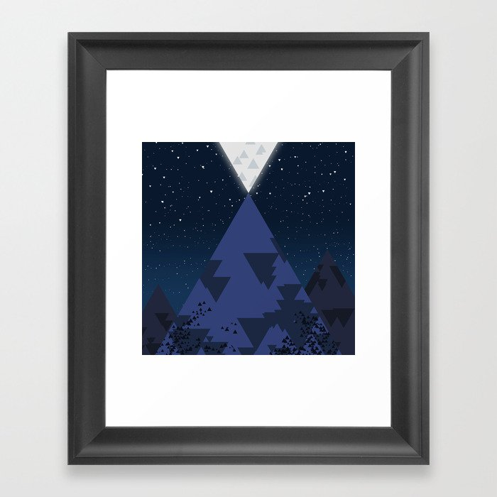 The Mountain and the Moon Framed Art Print