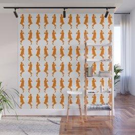 Orange Bold Mod GoGo Girls Wall Mural