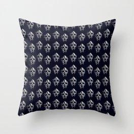 Doom Mask Melting Throw Pillow