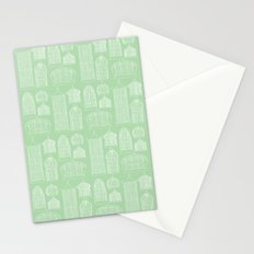 Birdcages (Green) Stationery Cards