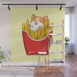 French Corgi Fries Wall Mural