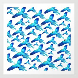 Blue flight Art Print