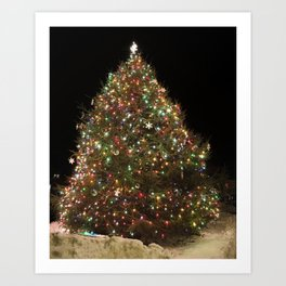 Rockport's Christmas tree Art Print