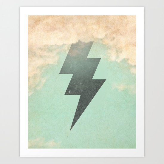 Bolt from the Blue Art Print