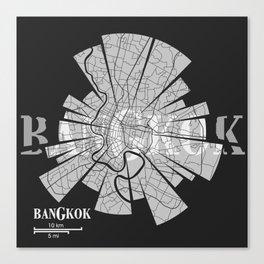 Bangkok Map Canvas Print