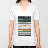 marx V-neck T-shirts featuring Marx Lenin Engels Revolucion Socialismo by Sanchez Grande