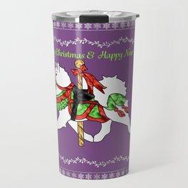 Samoyed Holiday Carousel Travel Mug
