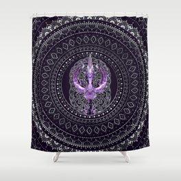 Trisula  -Trident of Shiva Shower Curtain