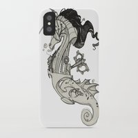 steam punk iPhone & iPod Cases featuring Steam Punk Horse  by FlyingFrogIllustration