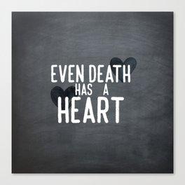 The Book Thief - Even Death Has a Heart Canvas Print