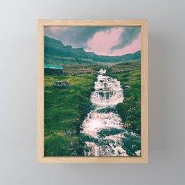 Faroese stream Framed Mini Art Print