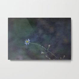 Daisy with Dark Expressions Metal Print