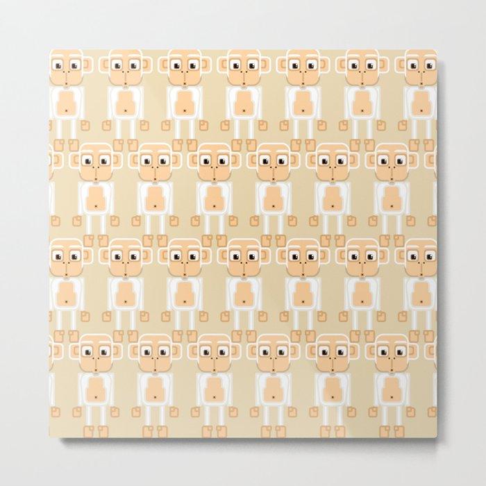 Super cute animals - Cheeky White Monkey Metal Print