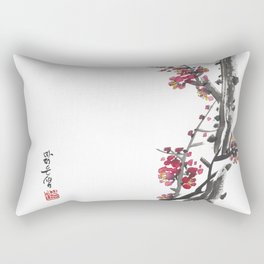 Plum Blossom Two Rectangular Pillow