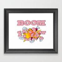 Boom, cake  Framed Art Print