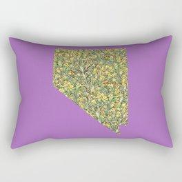 Nevada in Flowers Rectangular Pillow