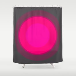 Hot Pink & Gray Focal Point Shower Curtain