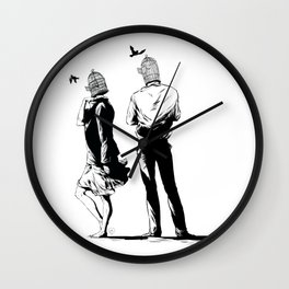 Migratory birds Wall Clock