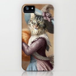 Young Lady Cat iPhone Case