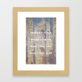 There's A Cathedral Framed Art Print