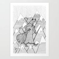 Art Print featuring Gryla from Iceland by Pizublic Illustration