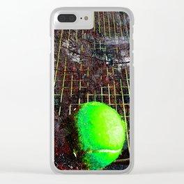 Tennis art print work vs 10 Clear iPhone Case