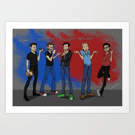 Rooster Teeth Founding Fathers Art Print
