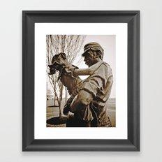 Working-class tribute Framed Art Print