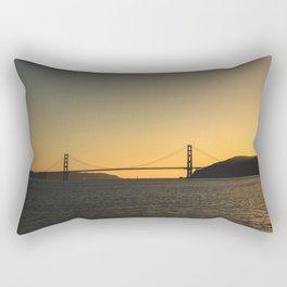 Golden Gate From The Sea Rectangular Pillow