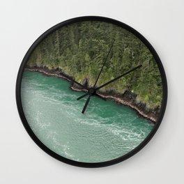 Water Meets Woods Wall Clock