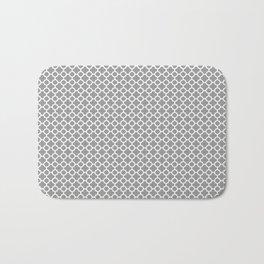 Quatrefoil Grey Bath Mat