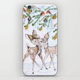 Cute Watercolor Deer iPhone Skin