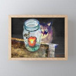 Scat & the Moth Framed Mini Art Print