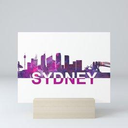 Sydney Skyline Scissor Cut Giant Text Mini Art Print