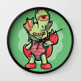 Monster Doodle Wall Clock