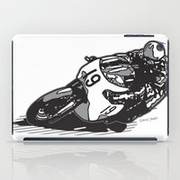 cafe racer iPad Cases featuring RACER 19 by Ernie Young