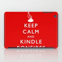 kindle iPad Cases featuring Keep Calm & Kindle Bonfires by Zach Shonkwiler