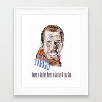 fargo Framed Art Prints featuring Fargo by AdrockHoward
