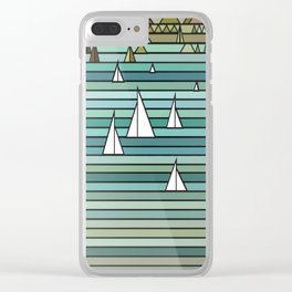 Sailing - Turquise Sea Clear iPhone Case