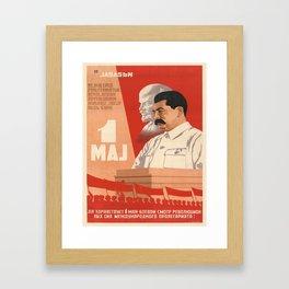 Vintage poster - Josef Stalin Framed Art Print