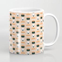 Salmon Dreams in peach, small Coffee Mug