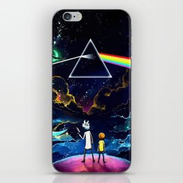 The dark side of Morty and Rick iPhone Skin
