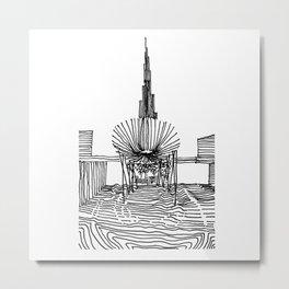 Dubai: Horro Vacui on an Urban Level Metal Print