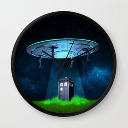 Tardis UFO Wall Clock