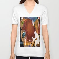 cycling V-neck T-shirts featuring Cycling by Robin Curtiss
