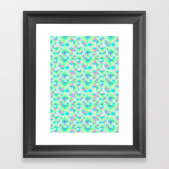 Geo Texture Framed Art Print
