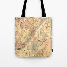 Map Of Cape May 1872 Tote Bag