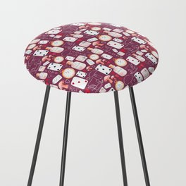 Alice in Wonderland - Purple Madness Counter Stool