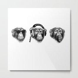 Music Monkeys Metal Print